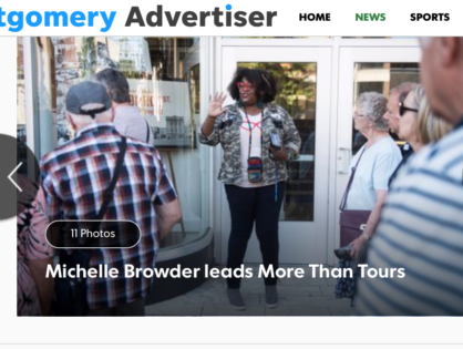"""""""Tour guide or teacher, Michelle Browder is an inspiration"""""""