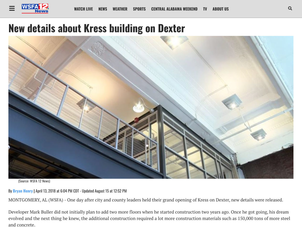 """Buller saved many of the artifacts from the Kress building"""