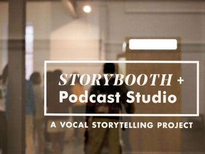"""Celebrating individual voices, this Living History recording booth"""